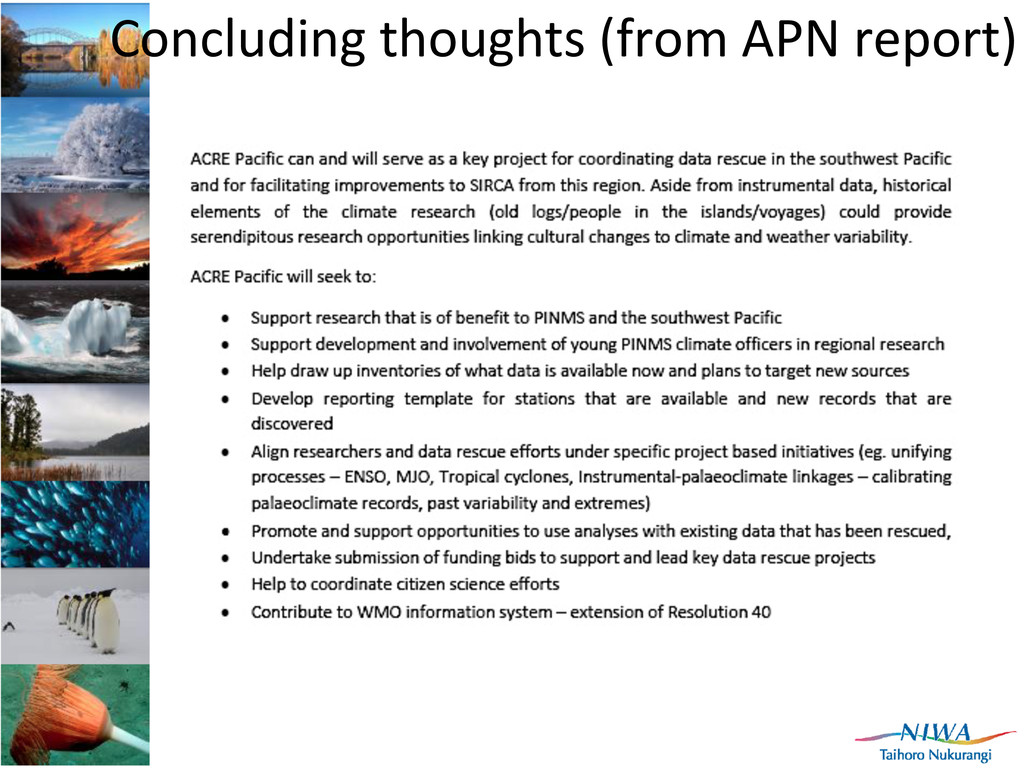 Concluding	
