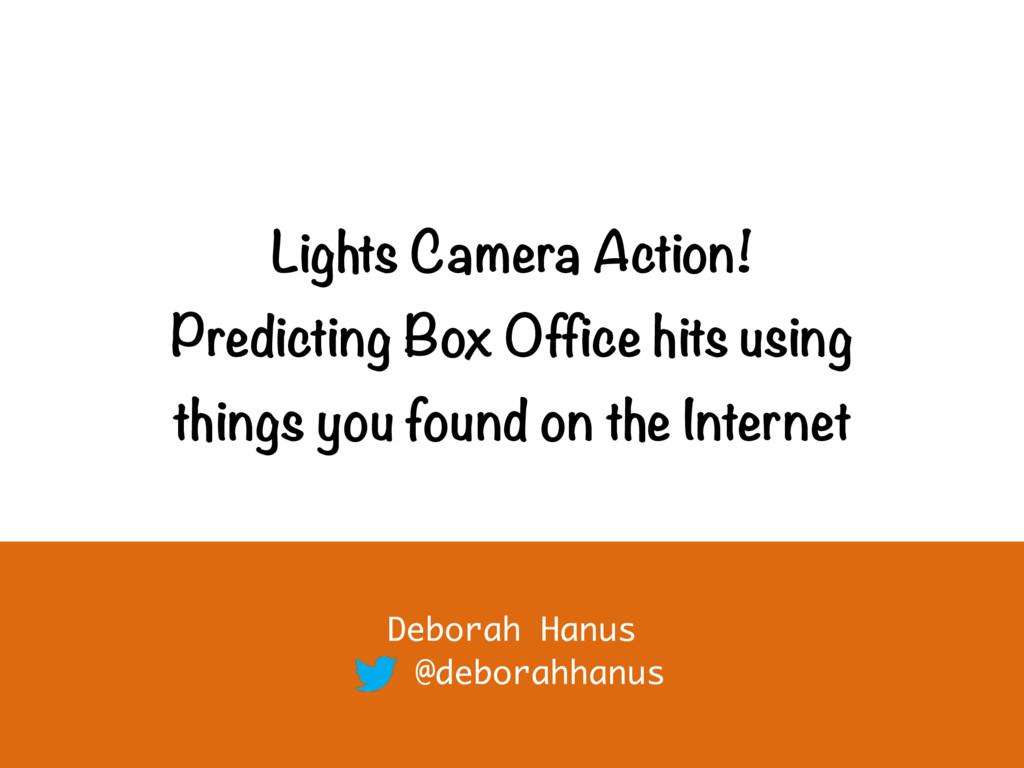 Lights Camera Action! Predicting Box Office hit...