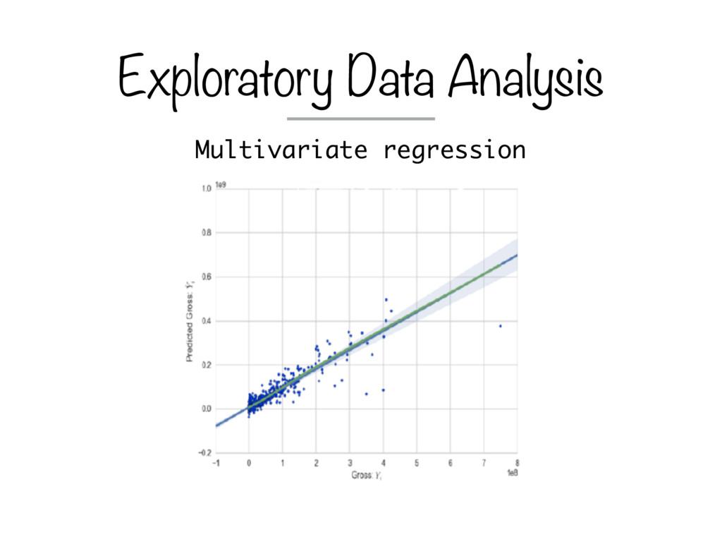 Multivariate regression Exploratory Data Analys...