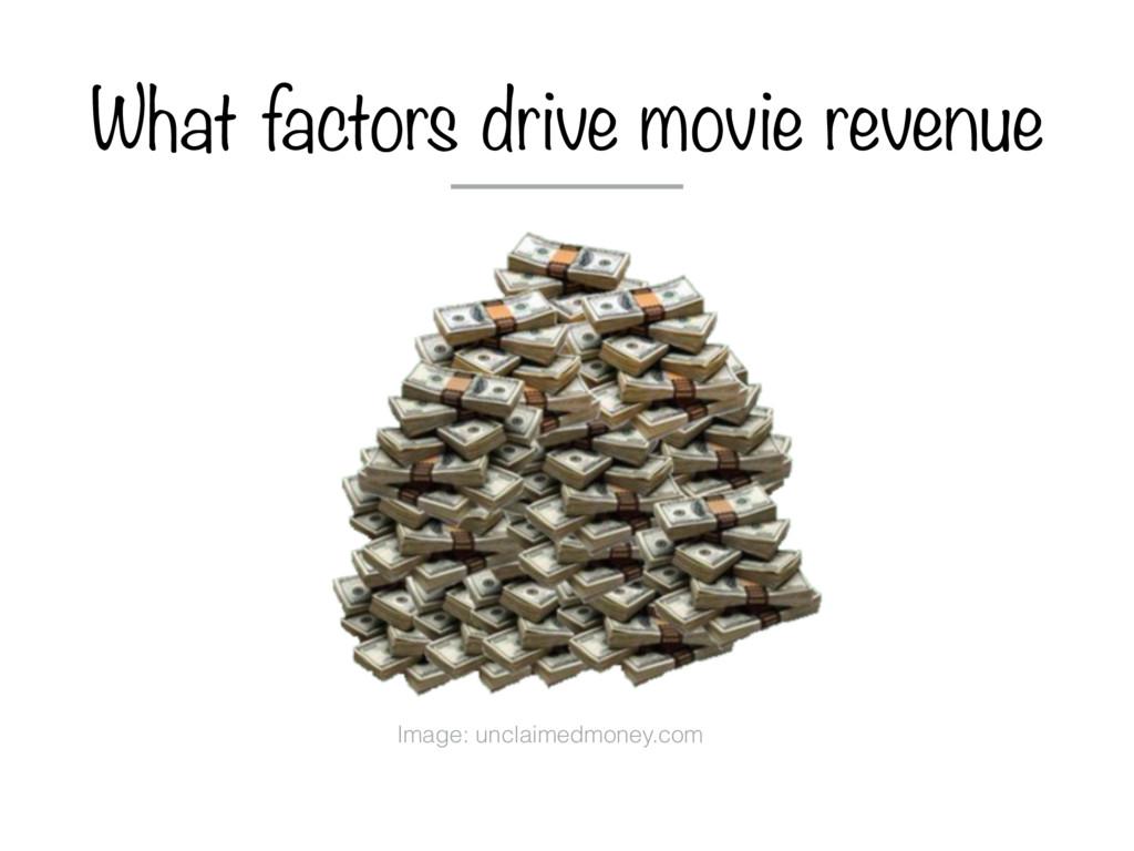 What factors drive movie revenue Image: unclaim...