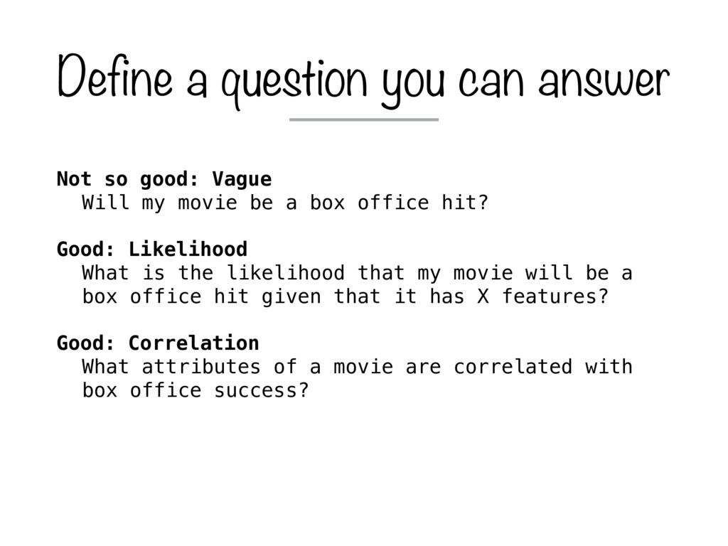 Not so good: Vague Will my movie be a box offic...