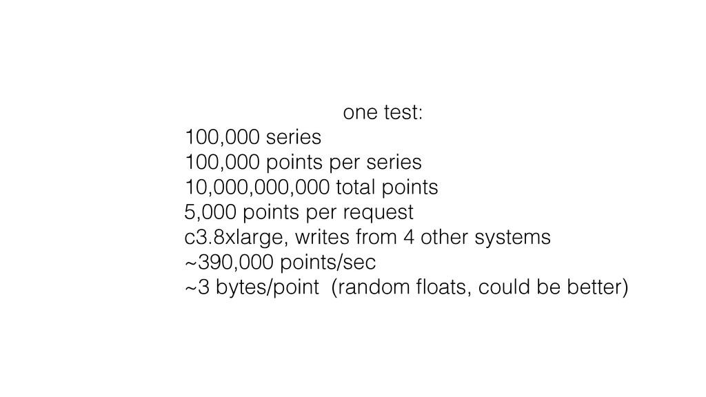 one test: 100,000 series 100,000 points per ser...