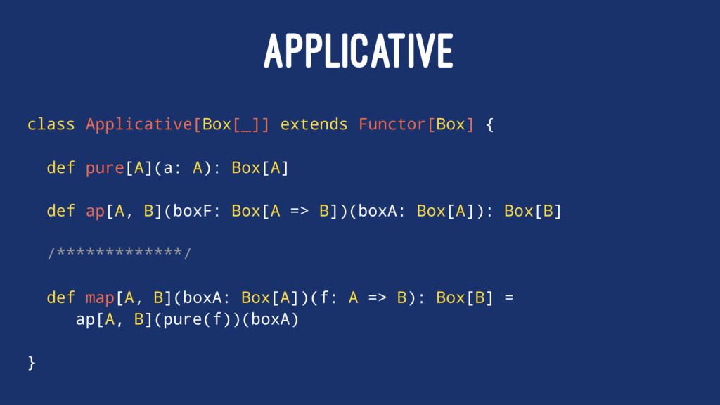 APPLICATIVE class Applicative[Box[_]] extends F...
