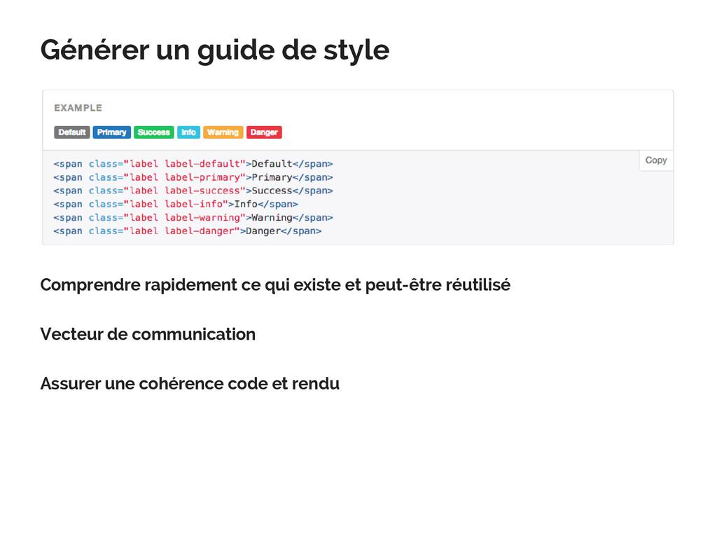 Générer un guide de style Comprendre rapidement...