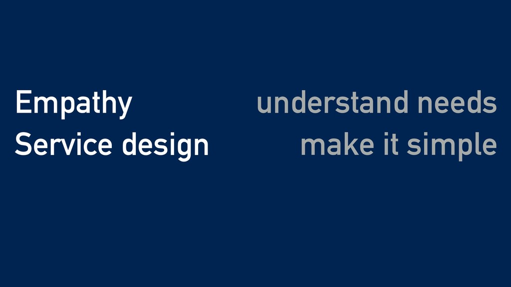 make it simple Empathy Service design understan...