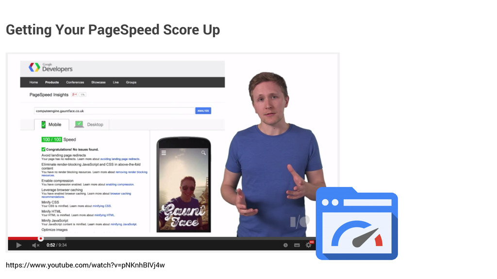 Getting Your PageSpeed Score Up https://www.you...
