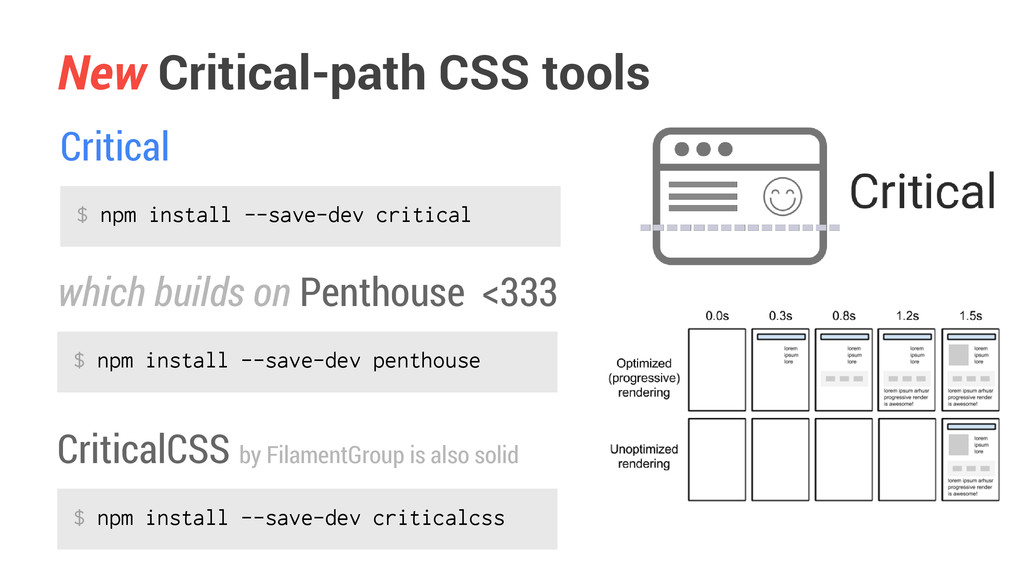 New Critical-path CSS tools which builds on Pen...