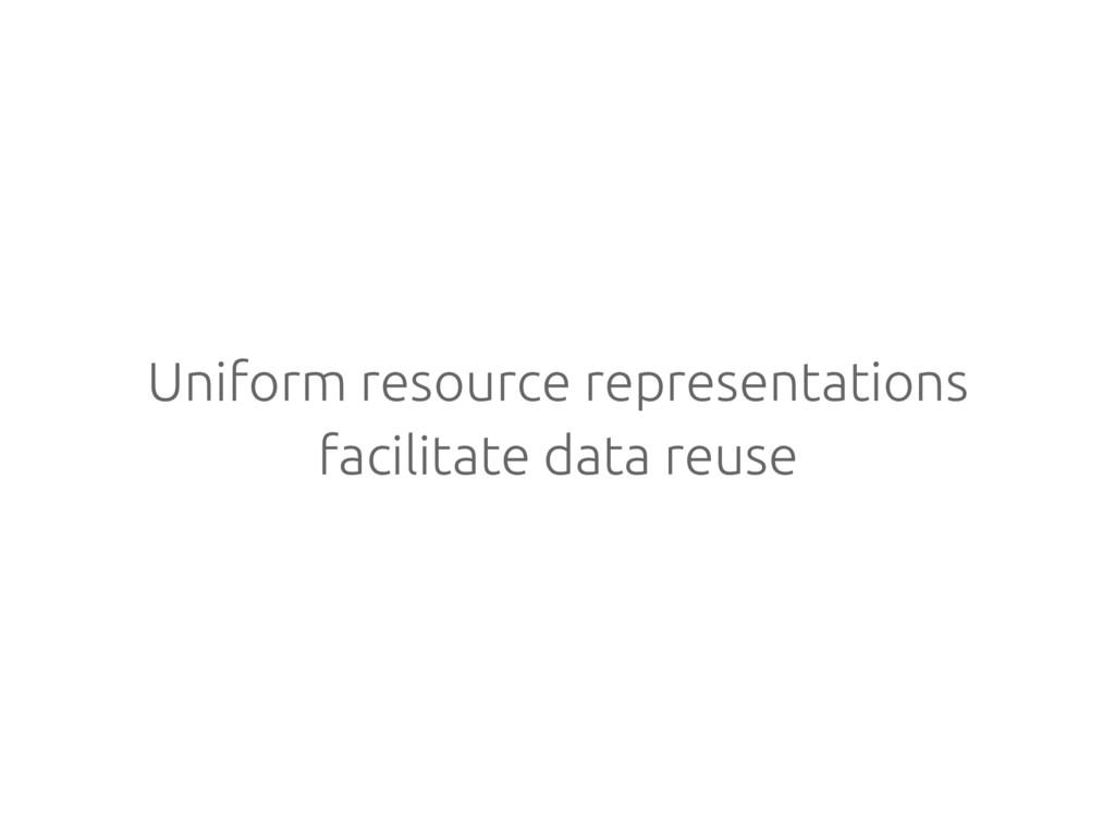 Uniform resource representations facilitate dat...
