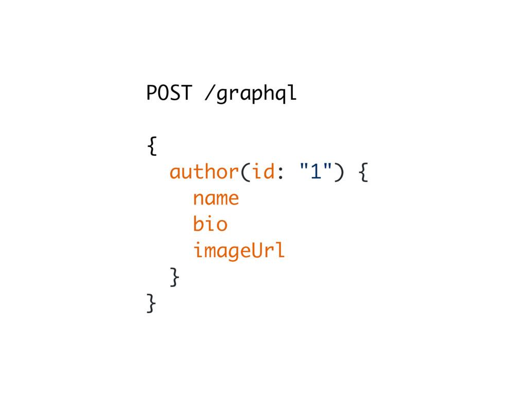 "POST /graphql { author(id: ""1"") { name bio imag..."