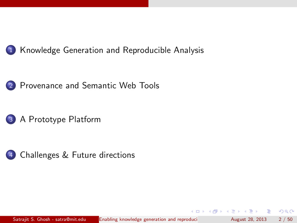 1 Knowledge Generation and Reproducible Analysi...