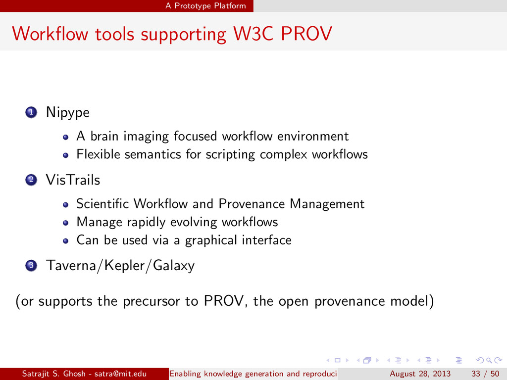 A Prototype Platform Workflow tools supporting W...