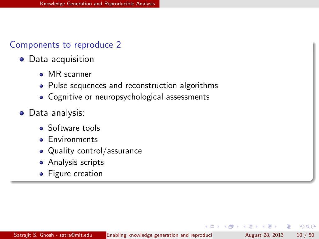 Knowledge Generation and Reproducible Analysis ...