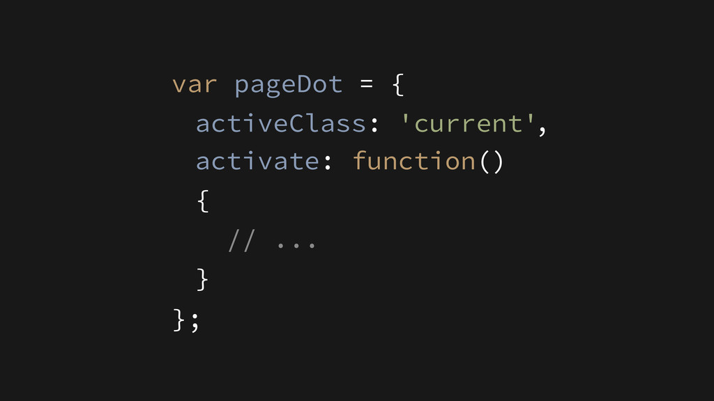 activate: function() { // ... } activeClass: 'c...