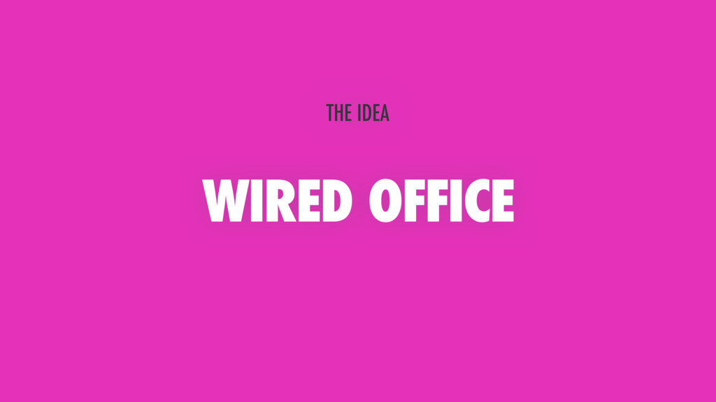 WIRED OFFICE THE IDEA