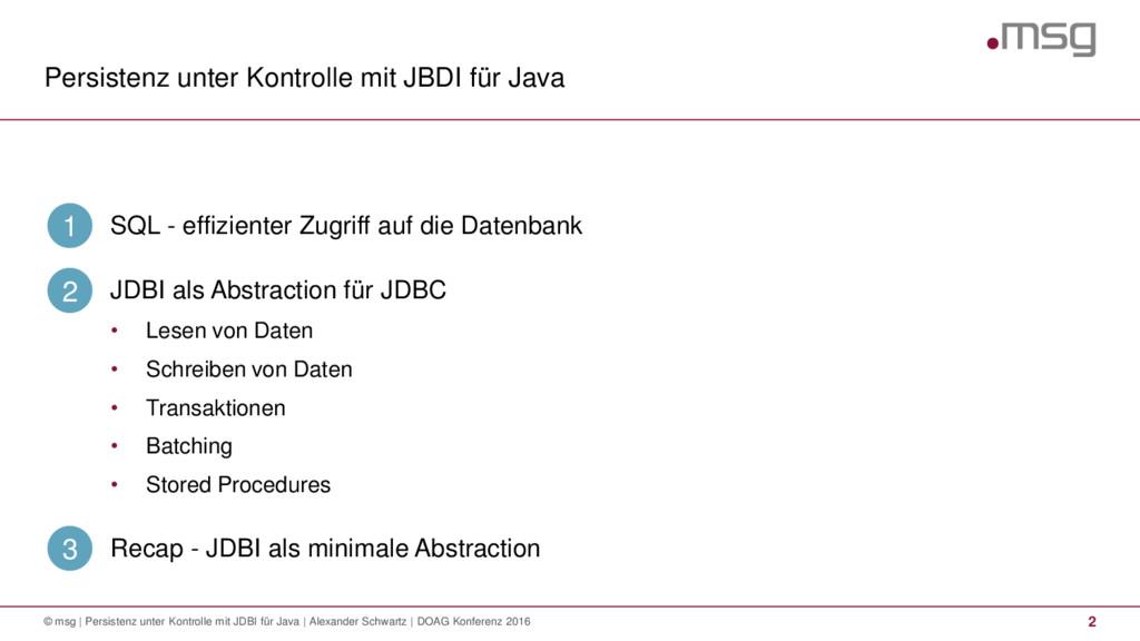 Persistenz unter Kontrolle mit JBDI für Java © ...