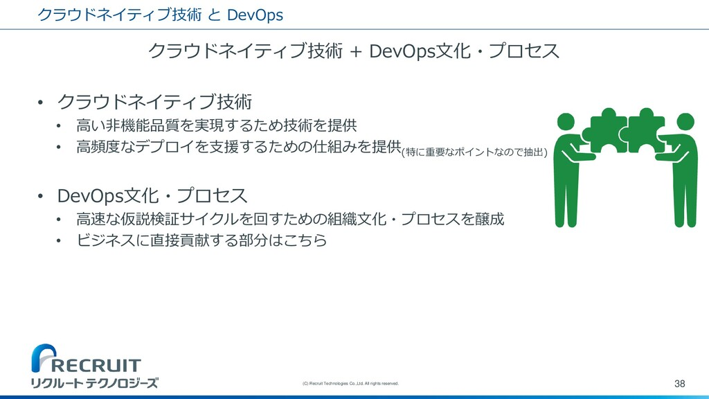 クラウドネイティブ技術 と DevOps クラウドネイティブ技術 + DevOps文化・プロセ...