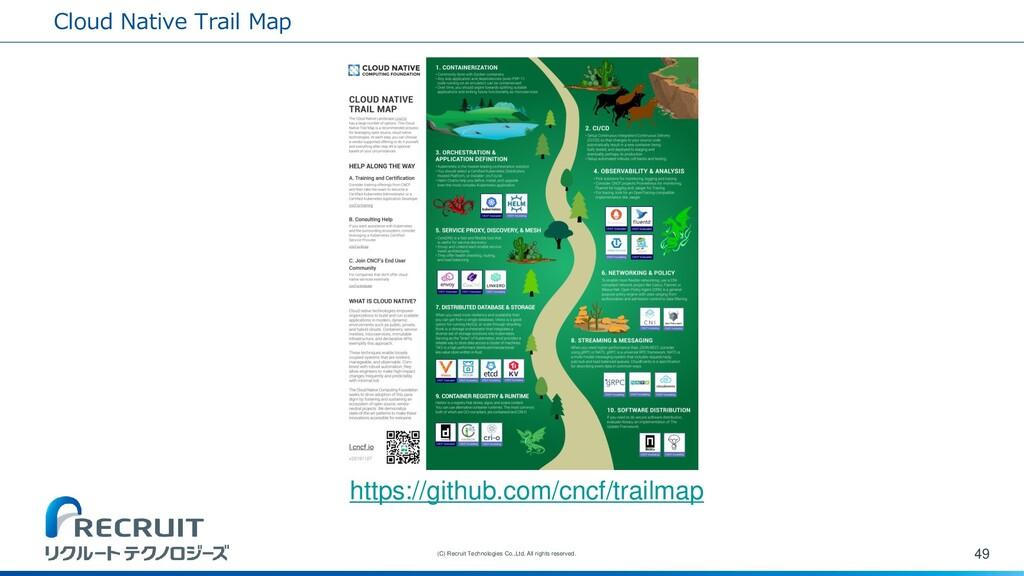 Cloud Native Trail Map 49 (C) Recruit Technolog...