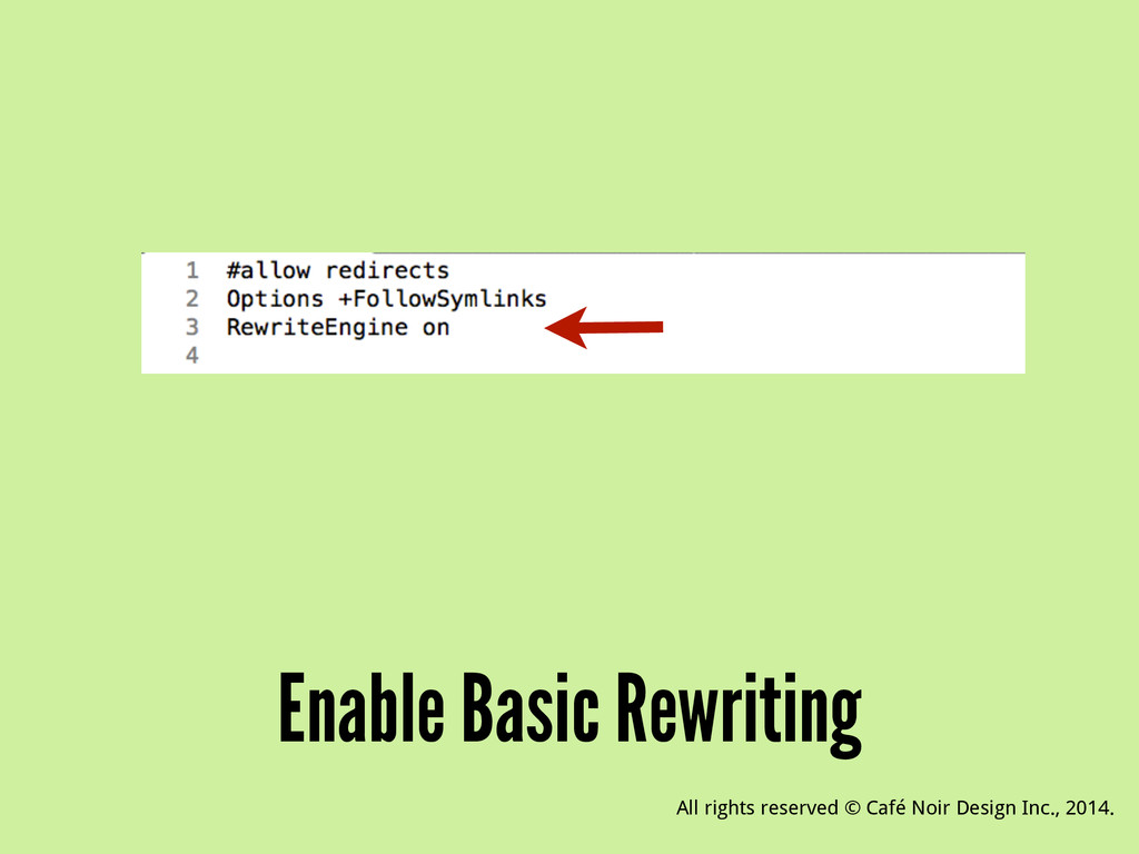 Enable Basic Rewriting All rights reserved © Ca...