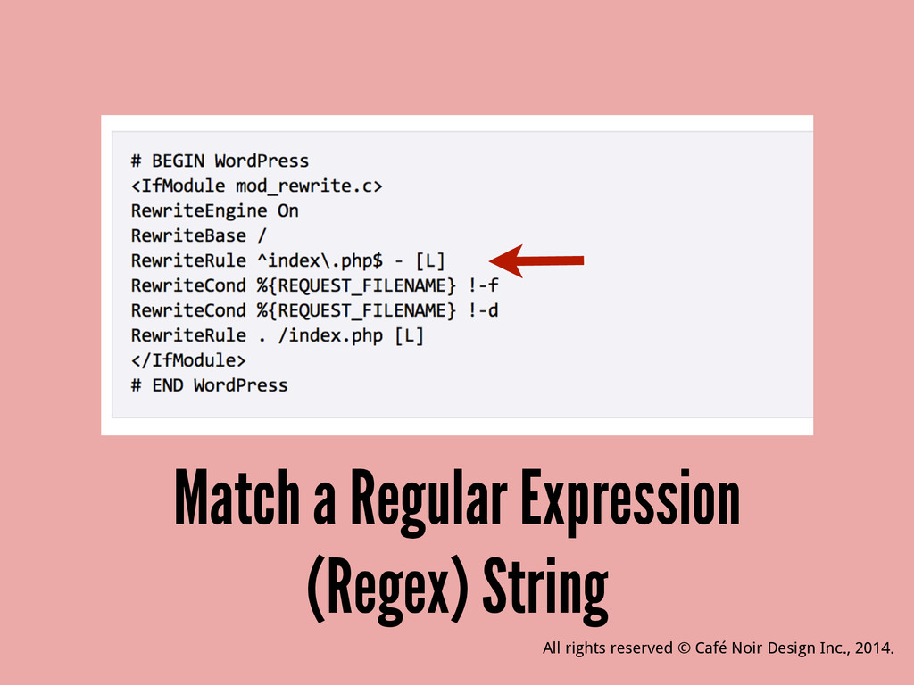Match a Regular Expression (Regex) String All r...