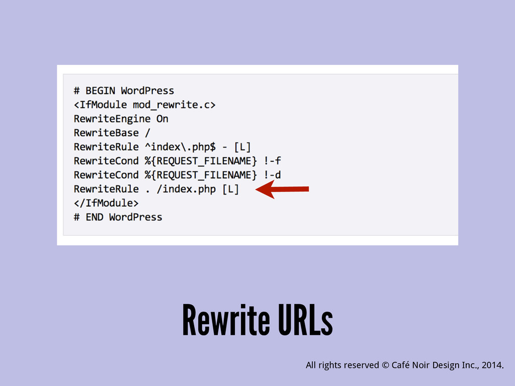 Rewrite URLs All rights reserved © Café Noir De...