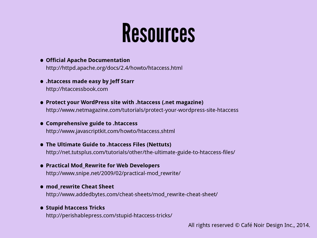 Resources • Official Apache Documentation