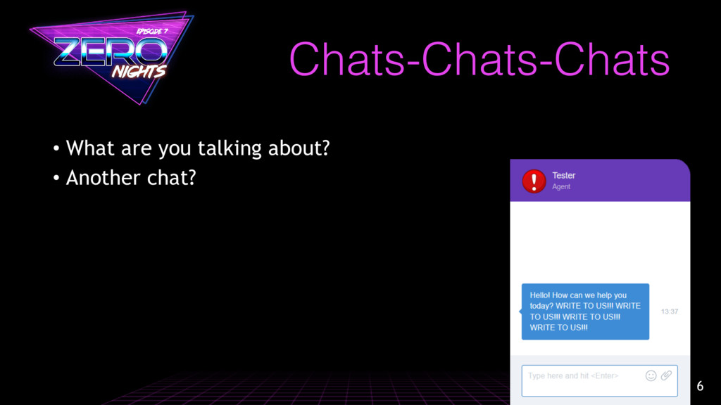 Chats-Chats-Chats • What are you talking about?...