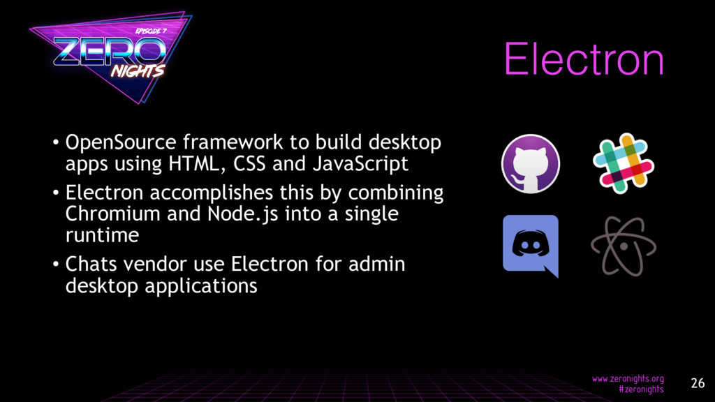 Electron • OpenSource framework to build deskto...