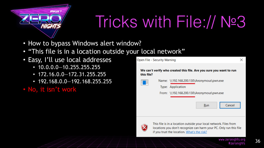 "• How to bypass Windows alert window? • ""This f..."