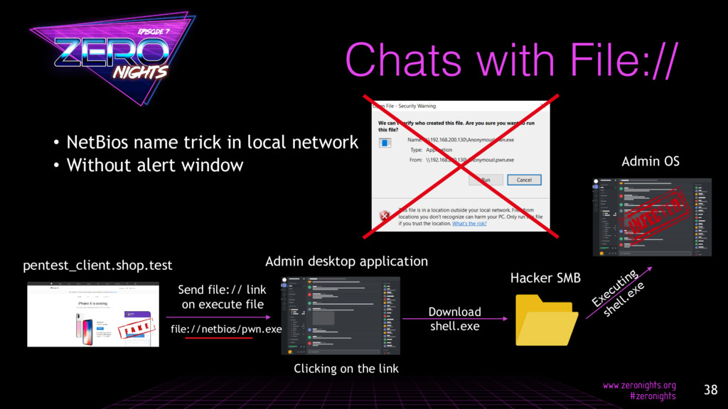 Chats with File:// • NetBios name trick in loca...