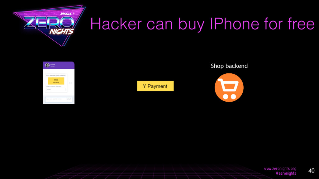Hacker can buy IPhone for free 40 Shop backend