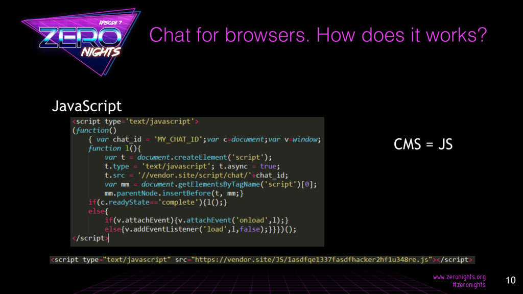 Chat for browsers. How does it works? JavaScrip...