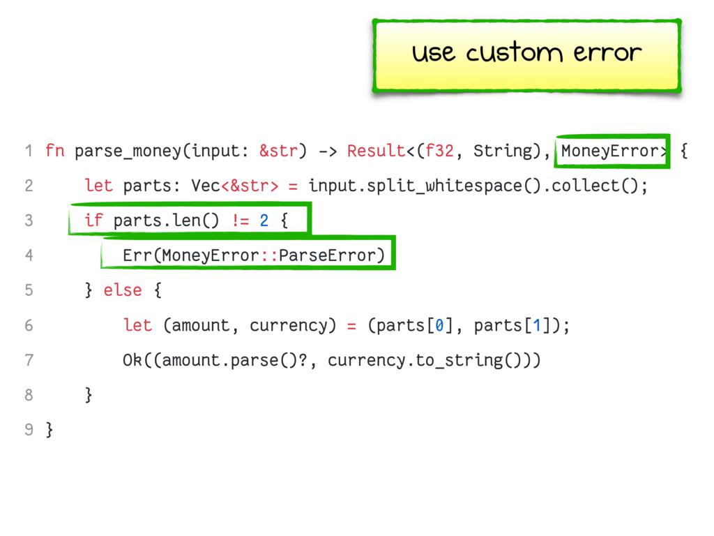 fn parse_money(input: &str) -> Result<(f32, Str...