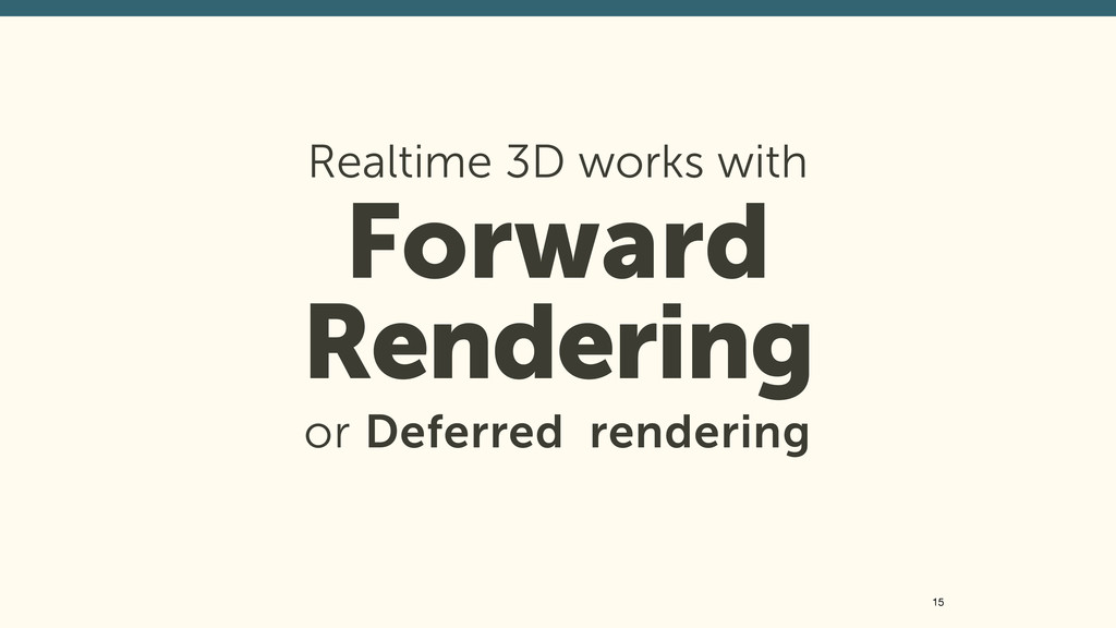Realtime 3D works with 