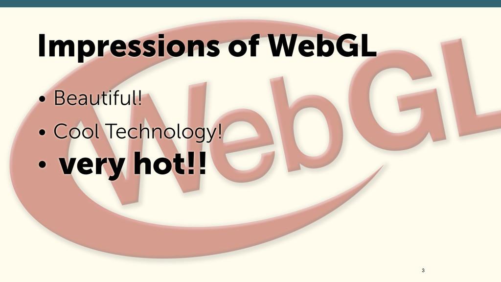 • Beautiful! • Cool Technology! • very hot!! 3 ...