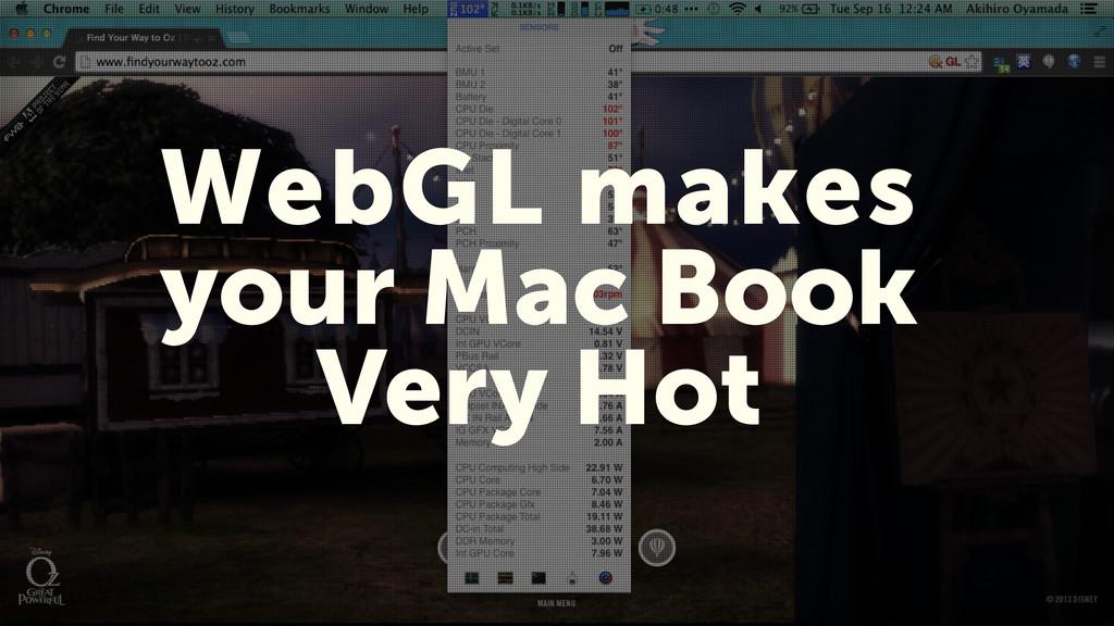 5 WebGL makes your Mac Book Very Hot