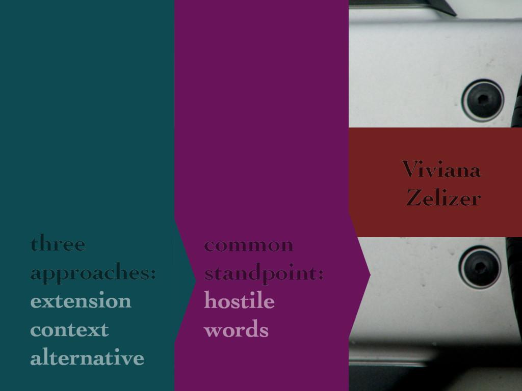 Viviana Zelizer common standpoint: hostile word...