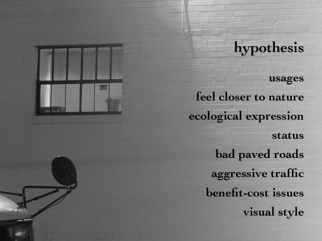 hypothesis usages feel closer to nature ecologi...