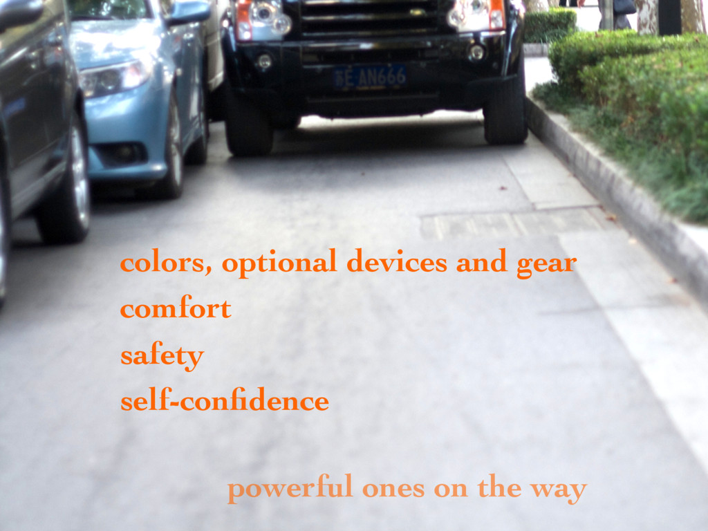 colors, optional devices and gear comfort safet...