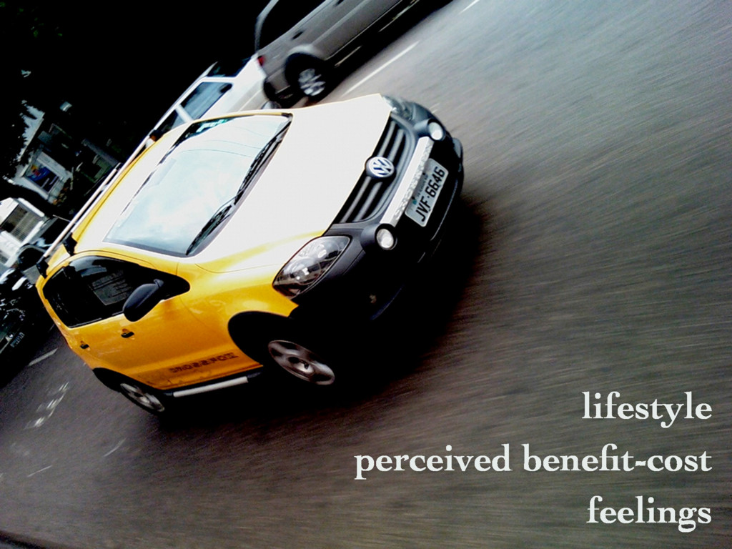 lifestyle perceived benefit-cost feelings
