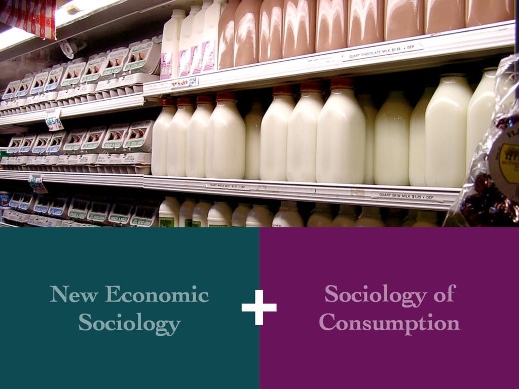 New Economic Sociology Sociology of Consumption...