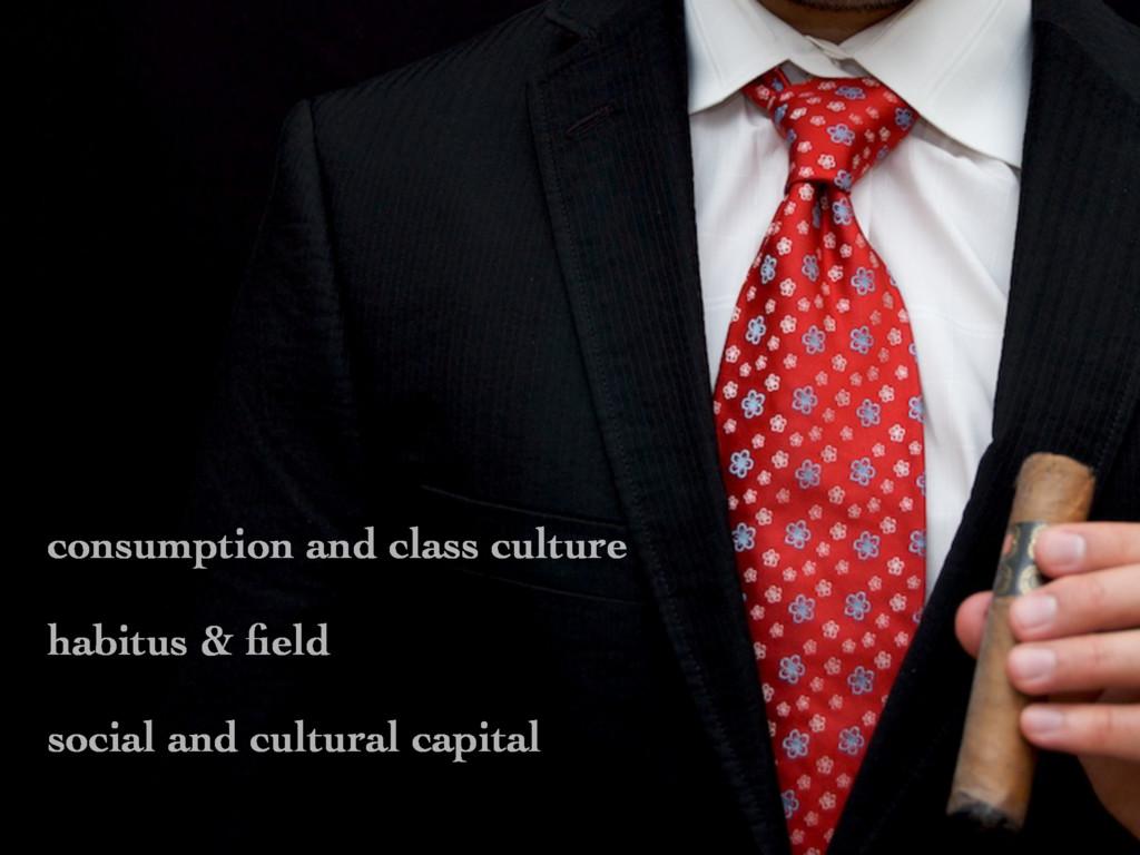 consumption and class culture habitus & field so...
