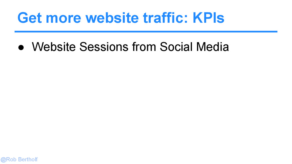 @Rob Bertholf Get more website traffic: KPIs ● ...
