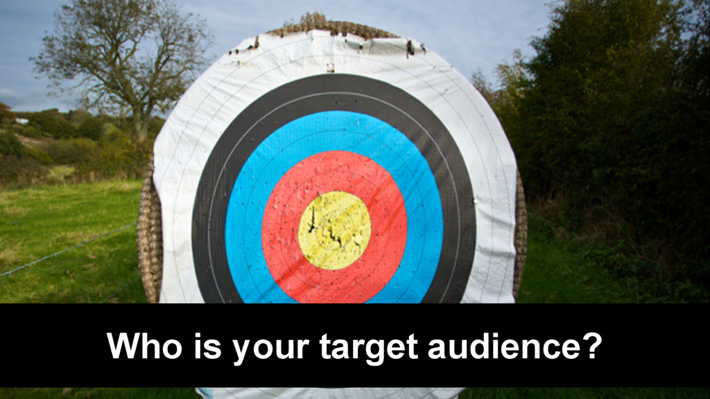 @Rob Bertholf Who is your target audience?