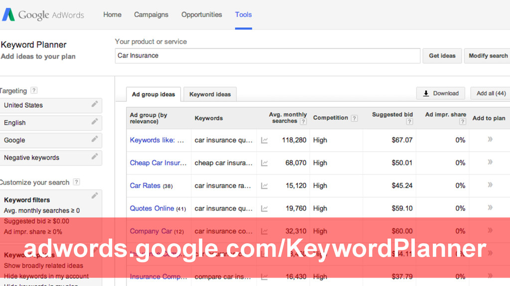 @Rob Bertholf adwords.google.com/KeywordPlanner