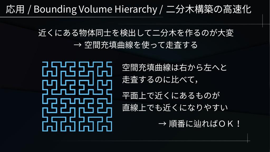 応用 / Bounding Volume Hierarchy / 二分木構築の高速化 近くにあ...