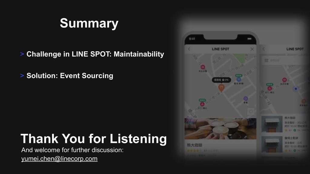 Summary > Challenge in LINE SPOT: Maintainabili...