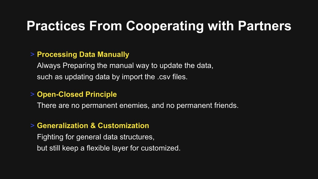 Practices From Cooperating with Partners > Open...
