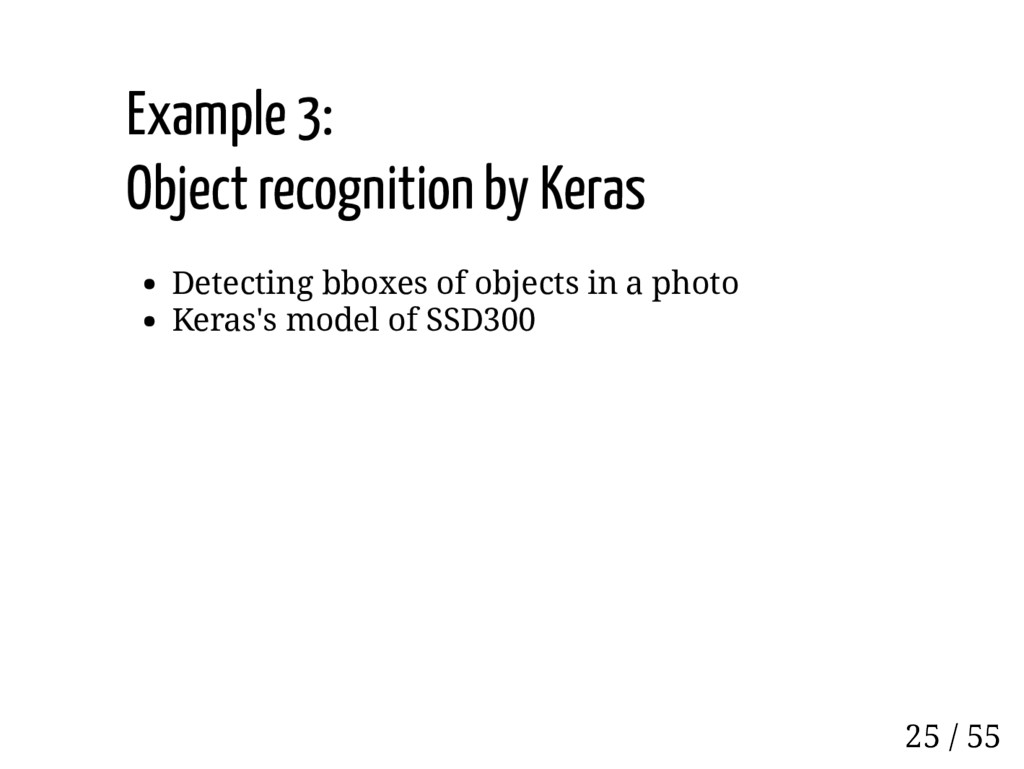 Example 3: Object recognition by Keras Detectin...