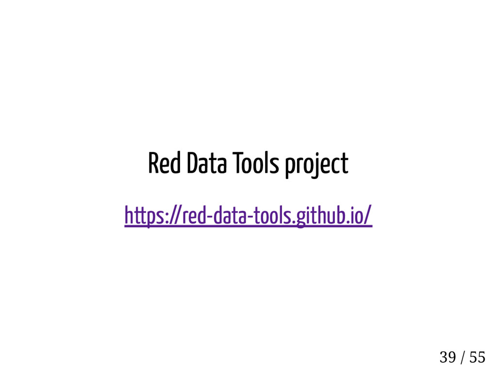 Red Data Tools project https://red-data-tools.g...