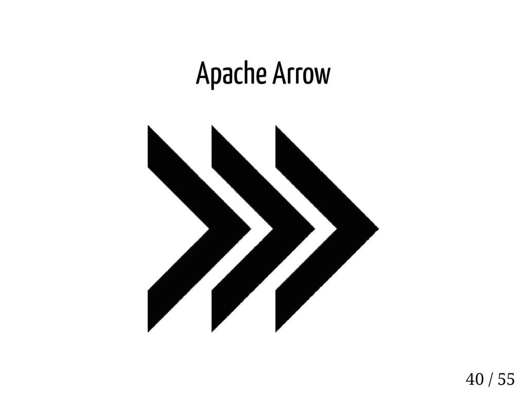 Apache Arrow 40 / 55